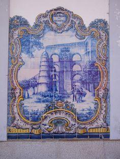 Painel de Azulejos: Arcos Cruzados do Aqueduto - Elvas