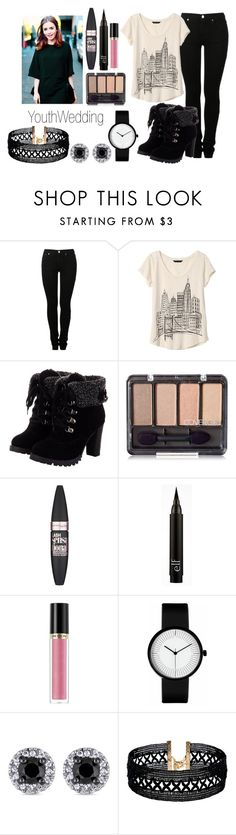 """YouthWedding"" by meliiissav ❤ liked on Polyvore featuring MM6 Maison Margiela, Banana Republic, Maybelline, Revlon and Vanessa Mooney"