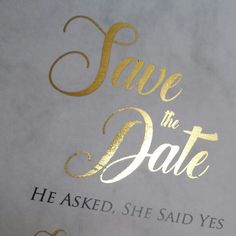 Our new save the date marble foiled invitation! This will be added on to the site very soon! The foiling will be added in many different colours.