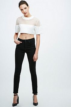 Solace Jett Top in White - Urban Outfitters