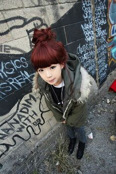 Red hair # ulzzang