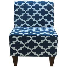 Fox Hill Trading Penelope Armless Fynn Slipper Chair & Reviews   Wayfair