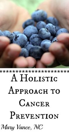 Holistic Cancer Prevention-- Mary Vance, NC