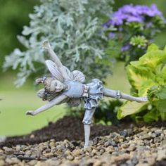 Miniature Fairy Garden Fairy Cartwheel Kay Nice and Affordable