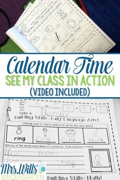 Calendar time! Looking for ways to reinforce skills for your students? Check out this post about how to use calendar journals to spirally review ELA and Math skills!