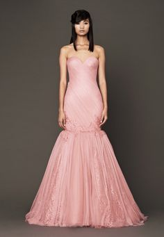vera wang | fall 2014 | nira gown | wedding dress | bridal | pink wedding dress