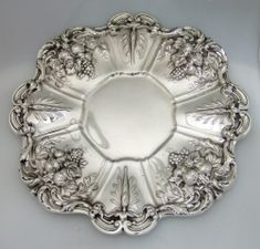 Antique sterling silver sandwich tray