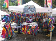 Tie Dye craft show booth