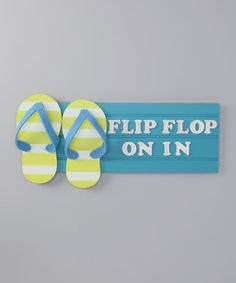Take a look at this Blue Flip-Flop Tropical Sign by Dennis East International on #zulily today!