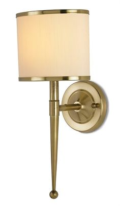 Primo Wall Sconce in Cream from Currey and Company is inspired by mid-twentieth century stylistic design. Antique brass trims the neutral shade for added detail. Place the classic metal wall light over your fireplace or powder room for a traditional feel. Plug In Wall Sconce, Mason Jar Wall Sconce, Black Wall Sconce, Indoor Wall Sconces, Rustic Wall Sconces, Bathroom Wall Sconces, Modern Wall Sconces, Transitional Wall Sconces, Candle Wall Sconces