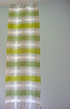 linen, spaced warp, washed to finish