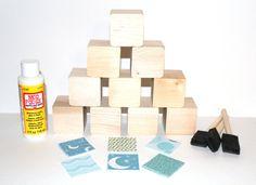 Baby Shower Activity  DIY Baby Blocks  Children's by Booksonblocks