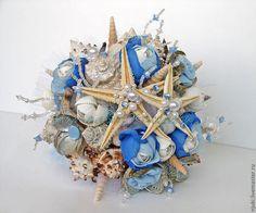 Свадебные цветы ручной работы. Ярмарка Мастеров - ручная работа. Купить Букет из ракушек Морской Бриз. Handmade. Букет из ракушек