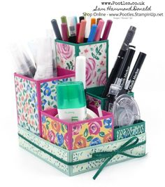 #1 Stampin' Up! Demonstrator Pootles -Small But Awesome Pencil Desktop Holder Tutorial