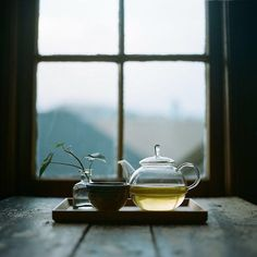 """Drink your tea slowly and reverently, as if it is the axis on which the world earth revolves – slowly, evenly, without rushing toward the future."" ~ Thich Nat Hahn"