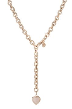 Rolò necklace with heart pendant