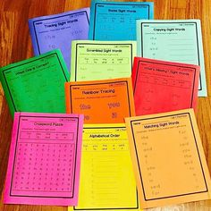Dolch sight word worksheet activities
