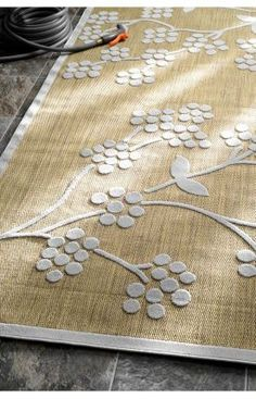 $5 Off when you share! Rugs USA Alfresco Outdoor Floral Tan Rug