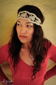 Women's Headband Hairband Lace Cute Bohemian by LuvHandmadeXoXo, $8.99