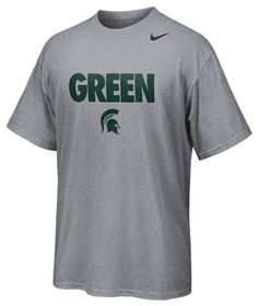 Nike MSU School Colors T-shirt - a perfect gift for your MSU valentine!