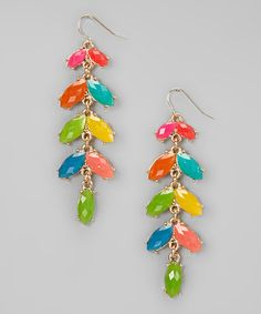 Take a look at this Rainbow Drop Earrings by Natasha Accessories on #zulily today!