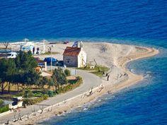 Viganj, a great spot to enjoy windsurfing. Located across on the Peljesac channel.