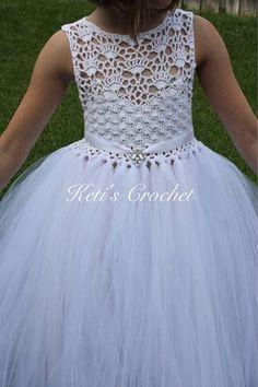 Vestido del tutú tutú blanco niña vestido de flores encaje