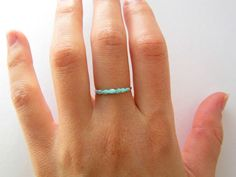 Tiny Turquoise Ring. Small Turquoise Ring. by CharmStoneEstonia