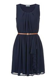 belted chiffon dress - maurices.com