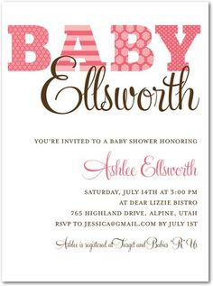 Love the design of this invite! Even though this one is for a baby shower it could totally work for a wedding invite!