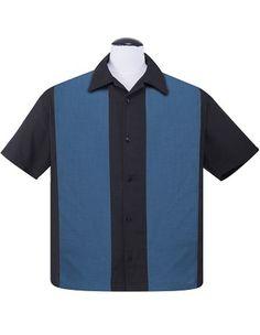 Steady Clothing Classics Last Call Poplin Check Mid Panel Mens Button up custom shirt custom shirts custom bowling shirts custom buttons custom embroidery custom panel shirt