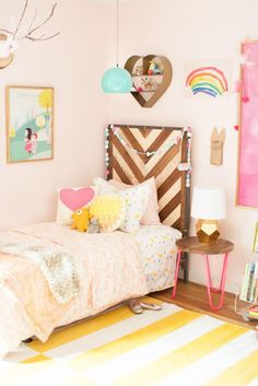 Shared Girls Room Design Refresh by Lay Baby Lay