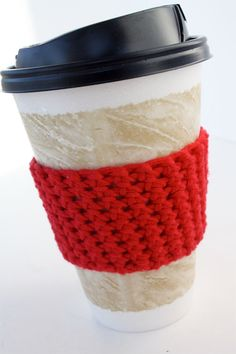 How to make a Crochet Coffee Cozy tutorial