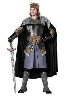 Mens Fur Cloak Cape Medieval Kign Prince Tudor Viking Fancy Dress Costume Adult