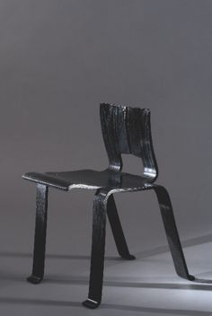 """CHARLOTTE PERRIAND  1955, """"Shadow"""" chair. Chair in black molded plywood.  Special Commission for the """"Synthèse des Arts"""" exhibition, Japan."""