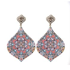 2017 Exquisite Fashion Jewelry | 2017 Spring Vintage Retro Laser Cut unfinished Wooden Earring Women ...
