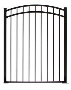 Providence Black Aluminum Decorative Fence Gate Common 4