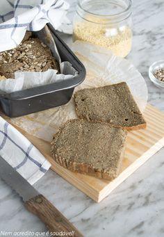 Nem acredito que é saudável!: Pão de quinoa. Quinoa bread