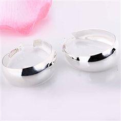 "Payton ""Strong"" Hoop Earrings #cateandchloe #jewelry #silver #hoopearrings #payton"