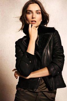 cool black leather jacket - Massimo Dutti's September 2012 lookbook - Photos by Gemma Edo.