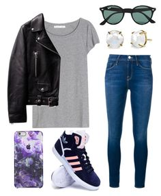 """""""#No name"""" by eemaj ❤ liked on Polyvore featuring Acne Studios, Frame Denim, adidas, Ray-Ban, women's clothing, women, female, woman, misses and juniors"""