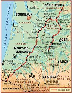 Topo-guide FFRandonnée 6543 - Sentier vers Saint-Jacques-de-Compostelle : Périgueux - Roncevaux