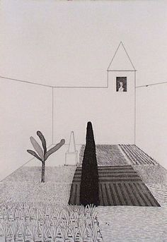 """Hockney. Rapunzel Growing in the Garden 