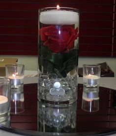 submerged centerpieces | Submerged Rose Centerpiece Pictures