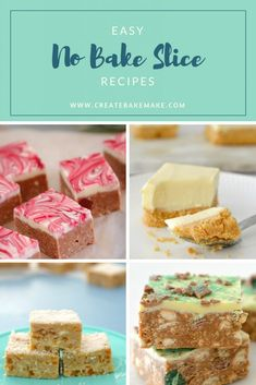Easy No Bake Slice Recipes which can be made conventionally or using a Thermomix.