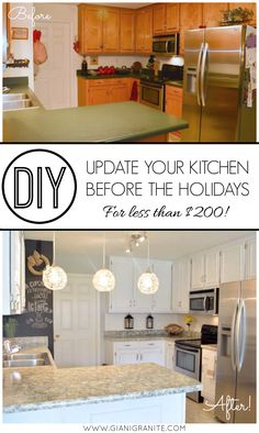 Makeover Your Kitchen In Time For The Upcoming Holiday Gatherings! Update  Your Cabinets U0026 Countertops