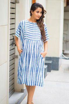 b8589daf085ff Breezy Blue Stripe Maternity and Nursing Tunic #momzjoy #ownyourconfidence  #maternityfashion #nursingwear #