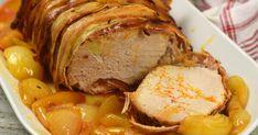Egyben sült karaj recept képpel. Hozzávalók és az elkészítés részletes leírása. A Egyben sült karaj elkészítési ideje: 95 perc Hungarian Recipes, Pork Dishes, Dessert Recipes, Desserts, Air Fryer Recipes, Pork Recipes, Sausage, Food And Drink, Google