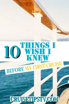#cruise planning can be intimidating! Here are 10 things I wish I would've known before my first voyage! Best Cruise, Cruise Tips, I Wish I Knew, Shore Excursions, Travel Agency, First Time, How To Plan, Travel