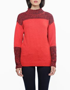 Alpine Sweater - RubyRed MidnightBlue from WOOL AND THE GANG #watg